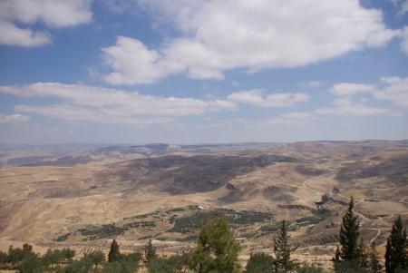 ネボ山からのビュー、ヨルダン
