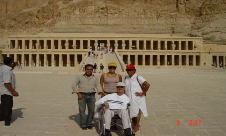 In Front of Hatshepsut Temple, Luxor