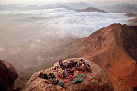 Beautiful Landscape of Moses Mountain in Sinai