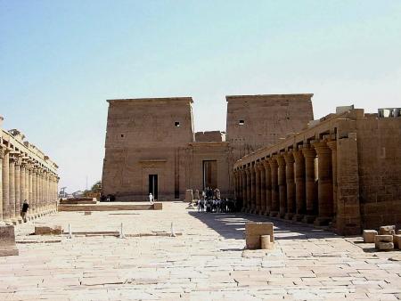Philae Temple Brightening
