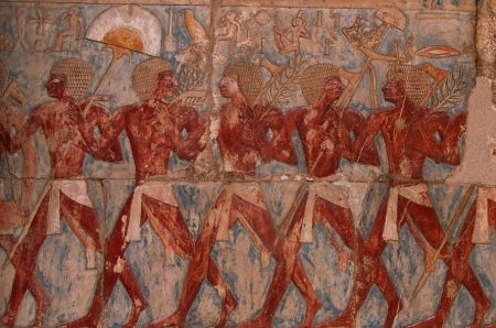 Interior Paintings at Hatshepsut Temple
