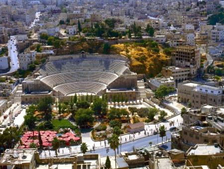 Vista do teatro romano, Jordânia