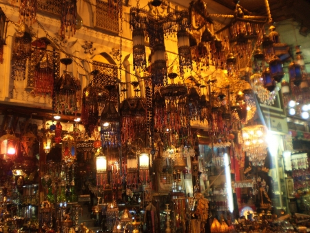 Khan El Khalili Bazaar at night