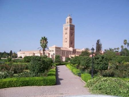 La Mezquita de Koutoubia, Marruecos
