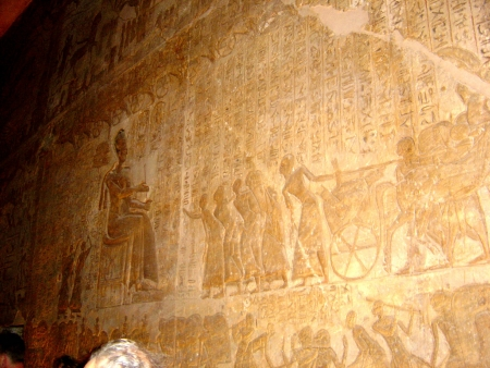 Pharaonic inscriptions in Temple of Rameses II
