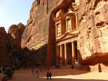 Petra Treasury in Jordan