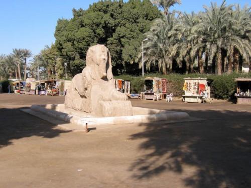 Estatua de la Esfinge en Memphis