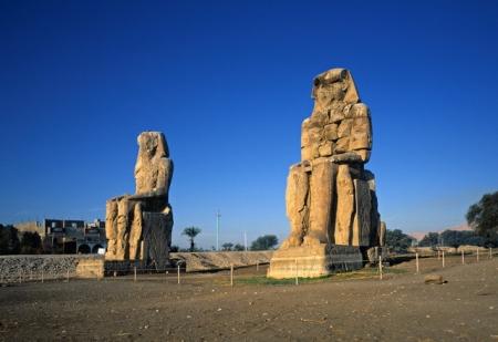 Colossi of Memnon in Upper Egypt
