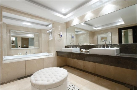 Bathroom inside Cruise Cabins