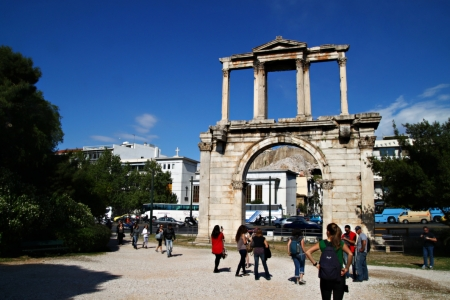 Hadrian´s Arch, Athens in Greece