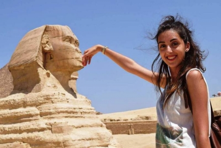 The Famous Sphinx at Giza, Cairo