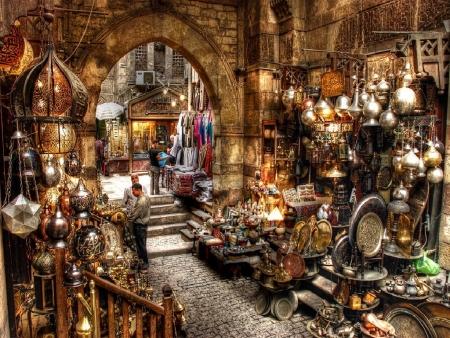 Bazaar di Khan el Khalili, Cairo Vecchio