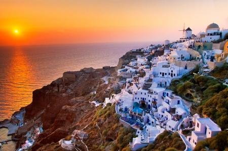 Sunset in Stunning Greece