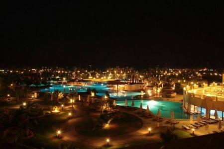 Steigenberger Al Dau Beach Hotel Hurghada at Night