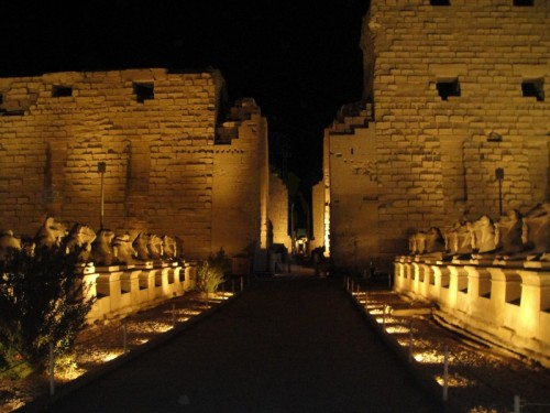 音と光ショー、カルナック神殿