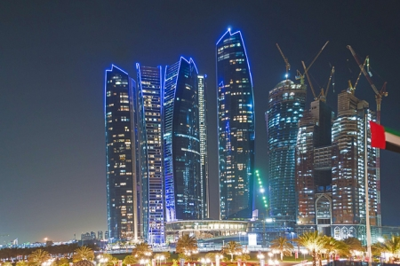Abu Dhabi City By Night