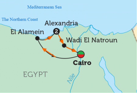 Road from the Pyramids to Alamein
