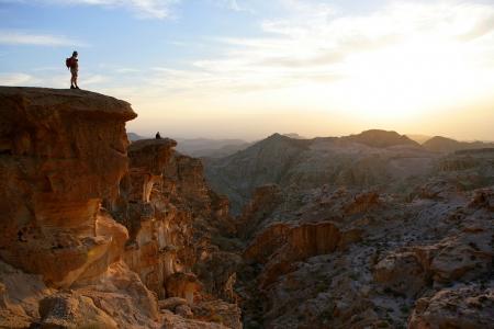 Vista dalla Cima di una Montagna a Wadi Rum