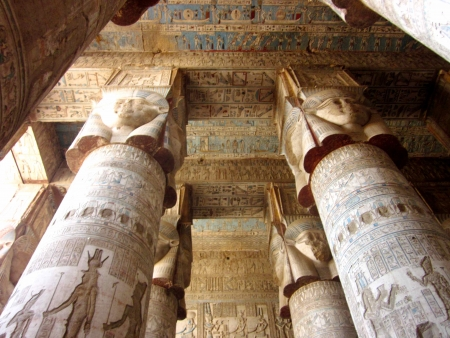 Columns of Temple Hathor