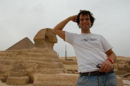 Sphinx bei den Gizeh Pyramiden