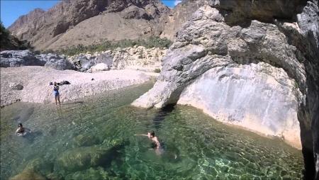 Swimming at Wadi Al Arbaeen
