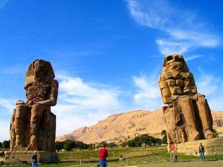 The Colossi of Memnon in The West Bank