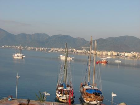 El puerto de Marmaris, turquía
