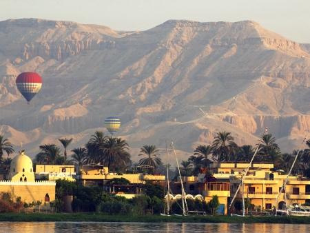 Air Balloon over Luxor, Egypt