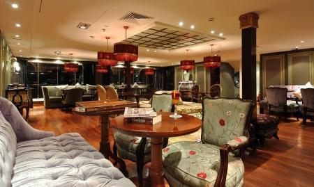 Grand lobby of MS Misr Steamer Cruise
