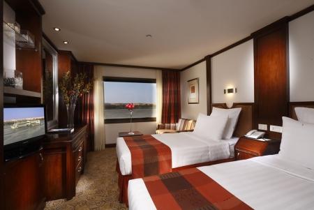 Twin Room at Nile Goddess Nile Cruise