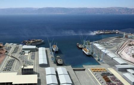 Porto di Aqaba nella Giordania