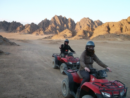 ATV Quad Bike in Sinai Desert, Egypt