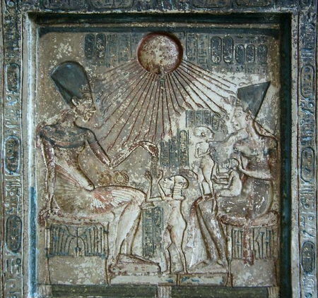 Colossal Statue of King Akhnaten and his Family