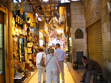 Khan El-Khalili Bazaar in Old Cairo
