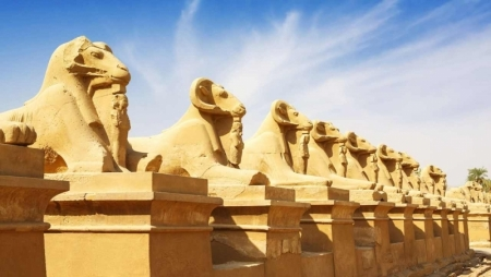 Sphinx Avenue at Karknak Temple