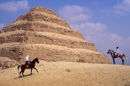The Step Pyramids at Sakkara, Egypt