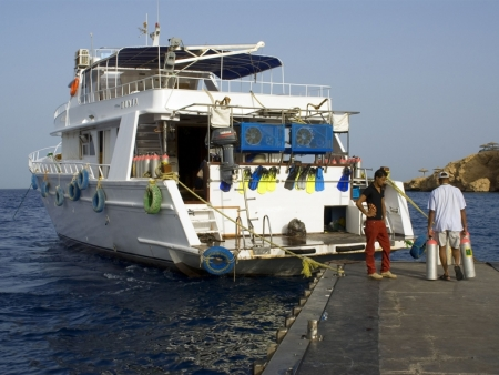 Diving Boat at Tiran Island