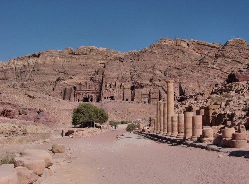 Roman colonnaded street, Petra
