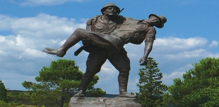 Soldiers Statue at Gallipoli, Turkey