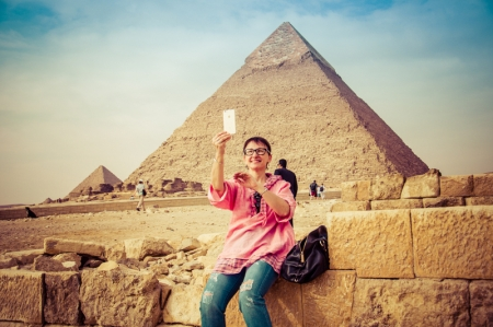 Selfie at the Pyramids, Egypt