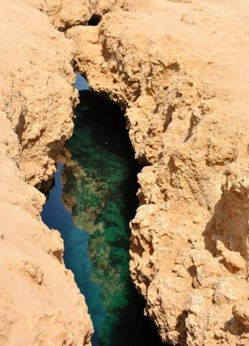 Earthquake crack in Ras Mohamed National Park, Sinai, Egypt