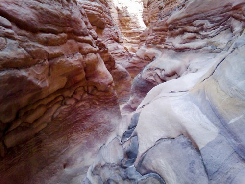 Natural Colored Stones at The Colored Canyon, Sinai