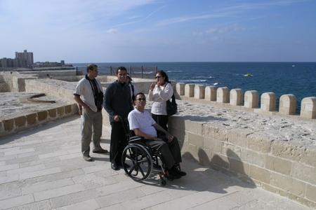 Rollstuhlreisende in Alexandria