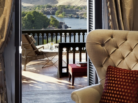 Stunning view from Old Cataract Hotel, Aswan