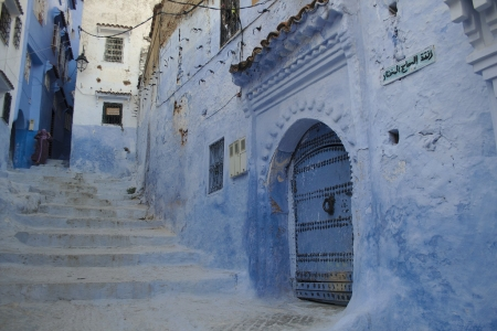 Ladders in Chefchaouen