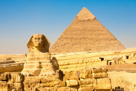 Pyramids of Giza and Great Sphinx