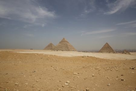 Panorama of Giza Pyramids