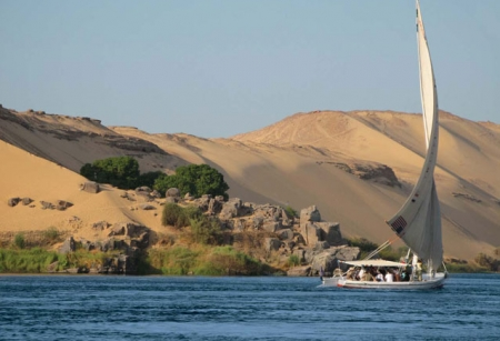 Felucca Sailing on The Nile