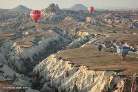 Hot Air Balloon Floating over Cappadocia