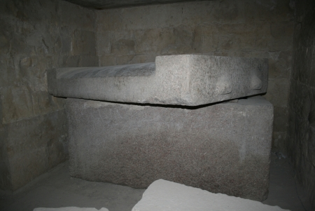 The Oldest Red Granite Sarcophagus known in Egypt at Meidum